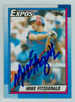 Mike Fitzgerald AUTOGRAPH 1990 Topps Expos 