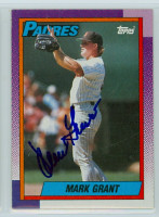 Mark Grant AUTOGRAPH 1990 Topps Padres 
