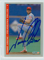 Tommy Greene AUTOGRAPH 1993 Fleer Phillies 