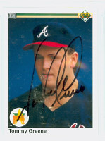 Tommy Greene AUTOGRAPH 1990 Upper Deck Braves 