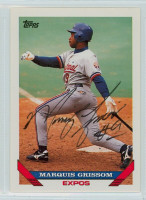 Marquis Grissom AUTOGRAPH 1993 Topps Expos 