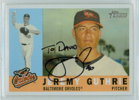 Jeremy Guthrie AUTOGRAPH 2009 Topps Heritage 1960 Topps Design Orioles PERS