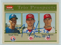 Josh Hall AUTOGRAPH 2004 Fleer Tradition Reds 