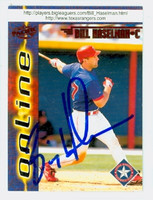 Bill Haselman AUTOGRAPH 1998 Pacific Online Rangers 