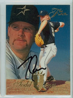 Todd Jones AUTOGRAPH 1994 Fleer Flair Astros 