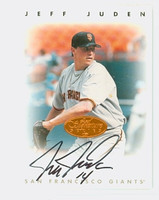 Jeff Juden AUTOGRAPH 1996 Leaf Signature Series Giants Bronze CERTIFIED 