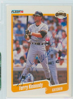 Terry Kennedy AUTOGRAPH 1990 Fleer Giants 