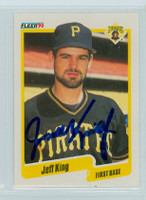 Jeff King AUTOGRAPH 1990 Fleer Pirates 
