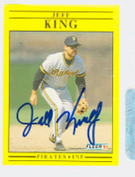 Jeff King AUTOGRAPH 1991 Fleer Pirates 