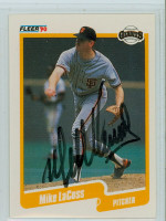 Mike LaCoss AUTOGRAPH 1990 Fleer Giants 