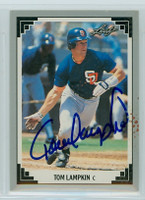 Tom Lampkin AUTOGRAPH Leaf 1991 Padres 