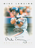 Mike Lansing AUTOGRAPH 1996 Leaf Signature Series Expos Silver CERTIFIED 