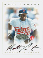 Matt Lawton AUTOGRAPH 1996 Leaf Signature Series Twins Silver CERTIFIED 