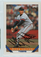 Mark Leiter AUTOGRAPH 1993 Topps Tigers 
