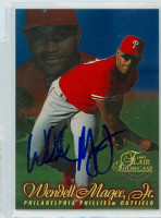 Wendell Magee AUTOGRAPH 1997 Fleer Flair Phillies 