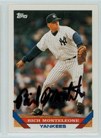 Rich Monteleone AUTOGRAPH 1993 Topps Yankees 