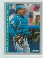 Bob Natal AUTOGRAPH 1993 Fleer Marlins Final Edition 