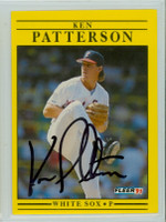 Ken Patterson AUTOGRAPH 1991 Fleer White Sox 