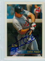 Herb Perry AUTOGRAPH 1996 Topps Indians 