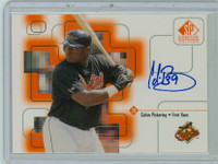 Calvin Pickering AUTOGRAPH 1999 Upper Deck SP Signature Orioles CERTIFIED 