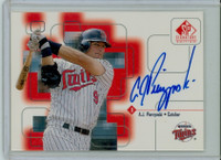 A.J. Pierzynski AUTOGRAPH 1999 Upper Deck SP Signature Twins CERTIFIED 