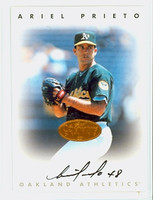 Ariel Prieto AUTOGRAPH 1996 Leaf Signature Series Athletics Bronze CERTIFIED 