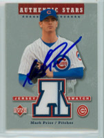 Mark Prior AUTOGRAPH 2003 Upper Deck Authentic Stars SWATCH Cubs 