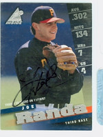 Joe Randa AUTOGRAPH 1998 Pinnacle Inside Tigers 