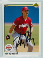 Randy Ready AUTOGRAPH 1990 Upper Deck Phillies 