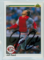 Jeff Reed AUTOGRAPH 1990 Upper Deck Reds 