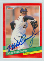 Mike Remlinger AUTOGRAPH 1991 Donruss Giants THE ROOKIES 