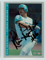Rich Renteria AUTOGRAPH 1993 Fleer Marlins Final Edition 