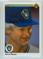 Jerry Reuss AUTOGRAPH 1990 Upper Deck Brewers 