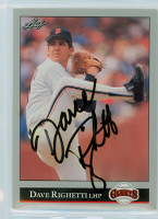Dave Righetti AUTOGRAPH 1992 Leaf Giants 