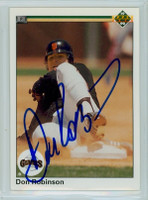 Don Robinson AUTOGRAPH 1990 Upper Deck Giants 