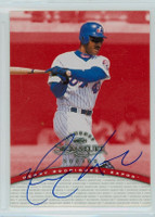 Henry Rodriguez AUTOGRAPH 1997 Donruss Signature Series RED /3900 Expos CERTIFIED 
