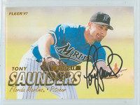 Tony Saunders AUTOGRAPH 1997 Fleer Marlins 