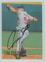 Tim Scott AUTOGRAPH 1996 Fleer Expos 