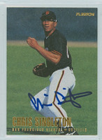 Chris Singleton AUTOGRAPH 1996 Fleer Giants 