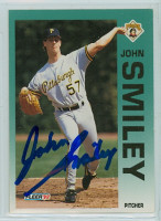 John Smiley AUTOGRAPH 1992 Fleer Pirates 