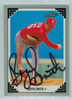 Bryn Smith AUTOGRAPH 1991 Leaf Cardinals 