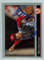 Bryn Smith AUTOGRAPH 1992 Leaf Cardinals 