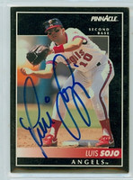 Luis Sojo AUTOGRAPH 1992 Pinnacle Angels 