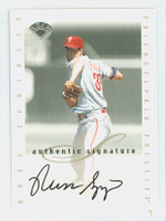 Russ Springer AUTOGRAPH 1996 Leaf Signature Series Extended Phillies CERTIFIED 
