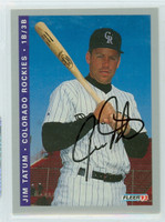 Jim Tatum AUTOGRAPH 1993 Fleer Rockies Final Edition 