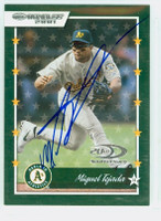 Miguel Tejada AUTOGRAPH 2001 Donruss Athletics 