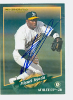 Miguel Tejada AUTOGRAPH 2000 Donruss Athletics 