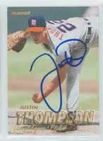 Justin Thompson AUTOGRAPH 1997 Fleer Tigers 
