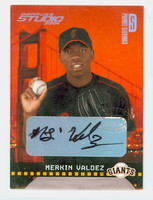 Merkin Valdez AUTOGRAPH 2004 Studio Private Signings Giants /250 CERTIFIED 