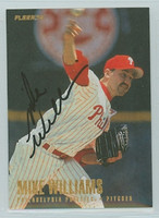 Mike Williams AUTOGRAPH 1996 Fleer Phillies 